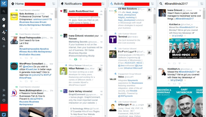 How to get the most out of conferences without being present on them TweetDeck