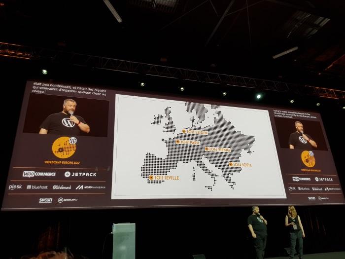 WordCampe Europe 2017 Paris scena