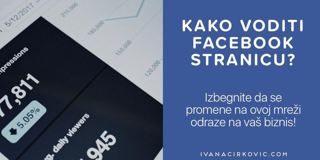 uputstvo kako voditi facebook stranicu - prikaz analitike